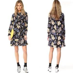 Tory Burch Jane Floral Silk Mini Shirtdress Size 6